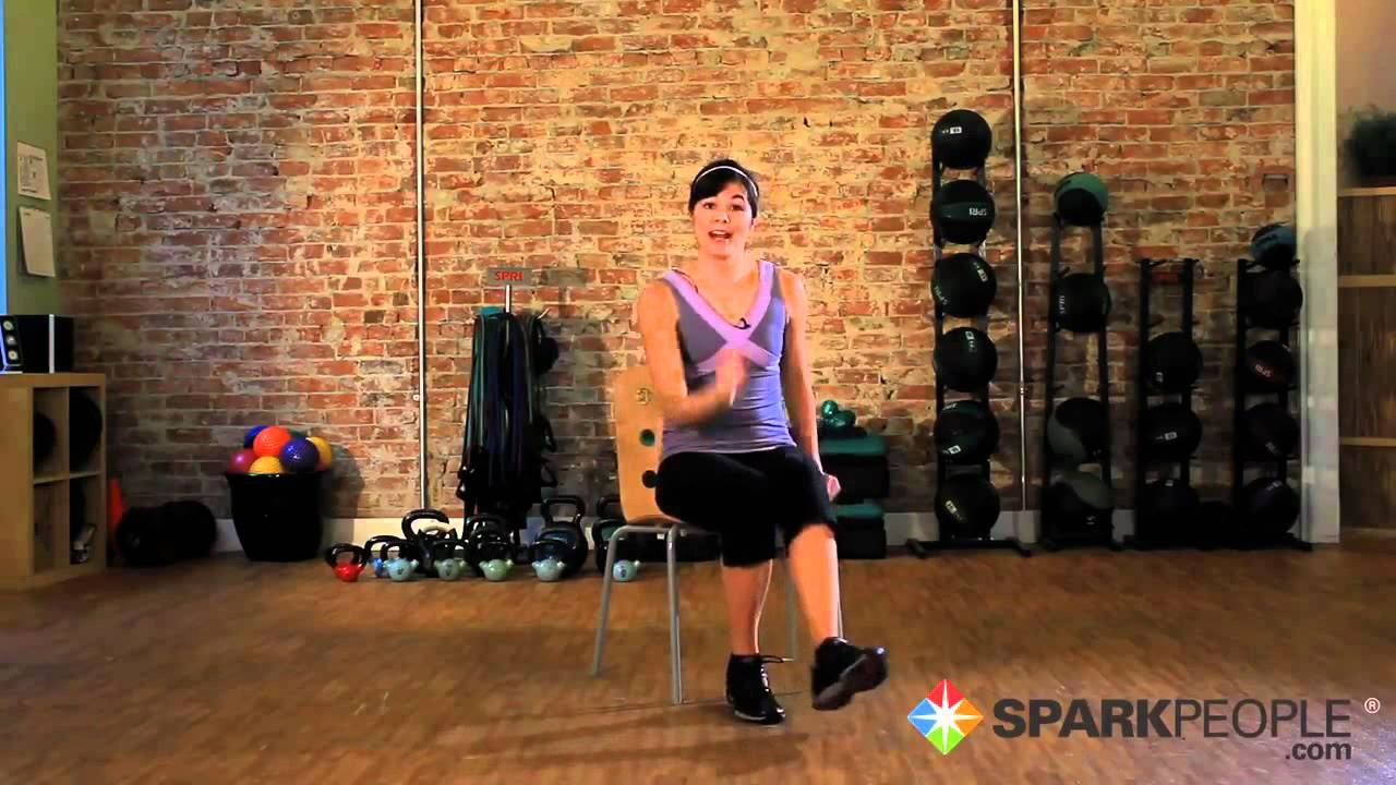 Seated Cardio Workout Burn Calories Exercising From A