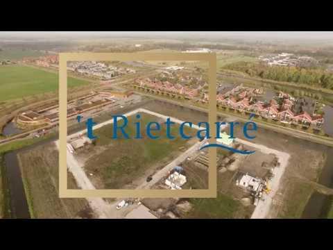 Schitterende dronebeelden toekomstig nieuwbouwproject 't Rietcarré - Reitdiep (Groningen)