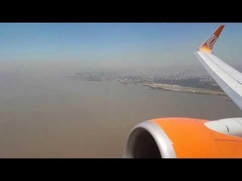 Despegue Boeing 737 de Gol desde Aeroparque Aeropuerto Jorge Newbery, Buenos Aires, Argentina