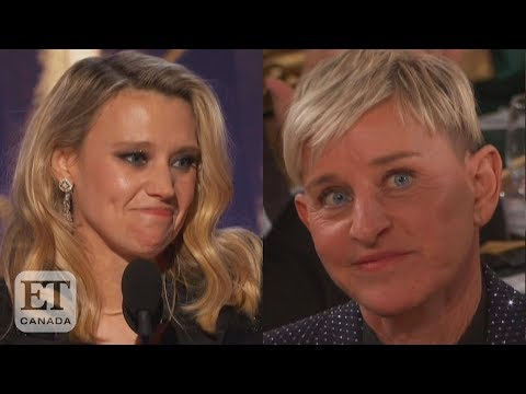 Kate McKinnon's Ellen Tribute At Golden Globes