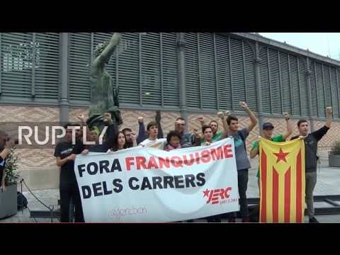 Spain: Unveiling of headless Franco statue sparks violence and anger in Barcelona