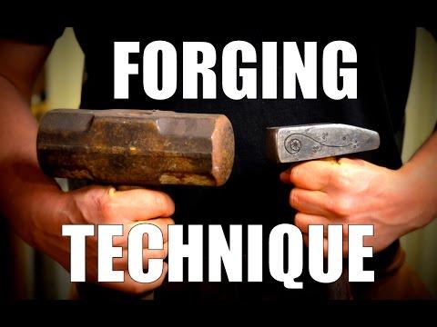 Proper Hammer Technique:  Blacksmith Hammering Techniques for the Daily Blacksmith