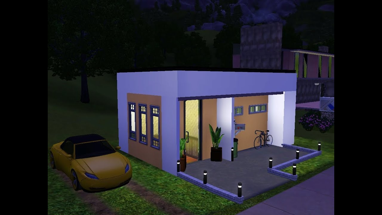 Sims 3 very small modern house youtube for The new small house