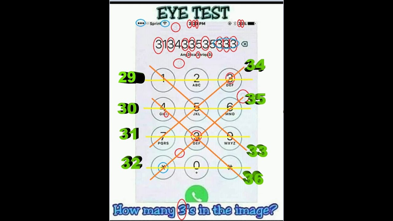 Eye Test How Many 3s In The Image Youtube He can be often found wearing a headset, listening to music and searching for the latest tech news, gadgets, mobiles and more. eye test how many 3s in the image