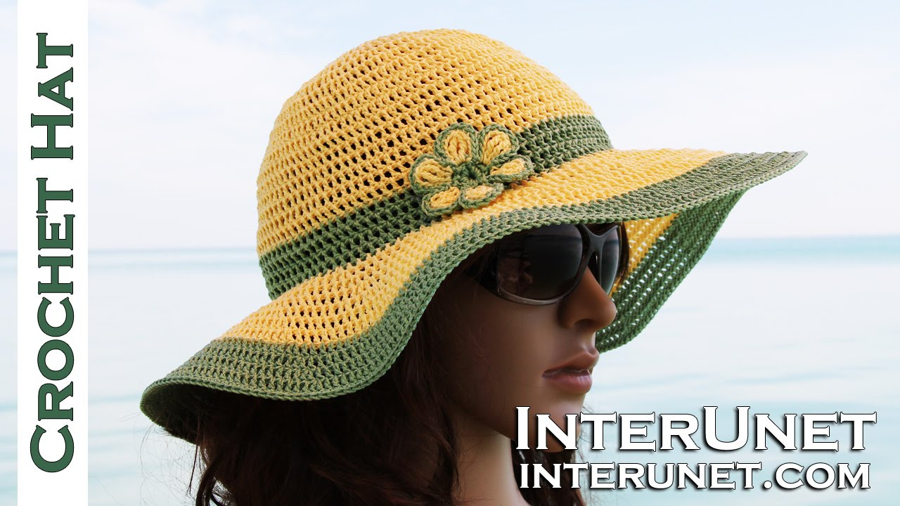 How to crochet summer sun protective hat - YouTube b6721f0cb6f