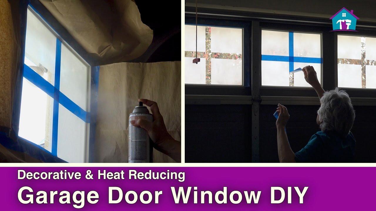 DIY Garage Door Windows  YouTube