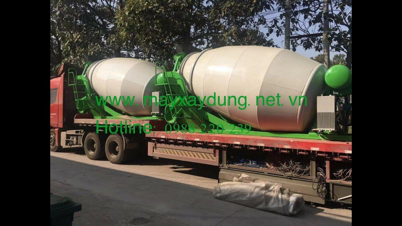 lắp đặt chạy thử bồn trộn bê tông 5m3; 6m3 cho khách hàng 0988874799