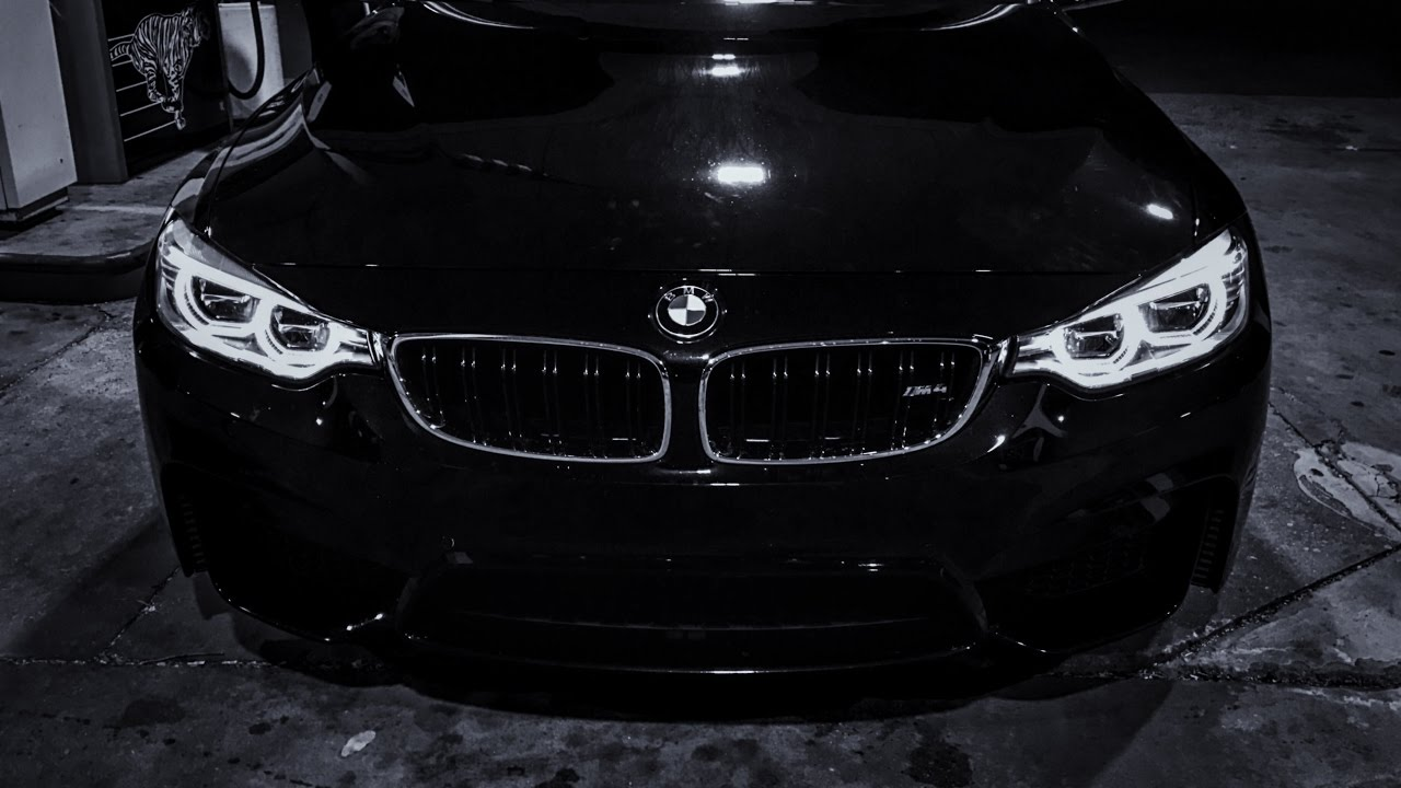 Bmw M4 Night Review Led Headlights Youtube