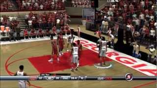 College Hoops 2K8 - My Player - UGA - 1st Game