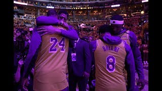 Lakers Introduce Every Player As Kobe Bryant