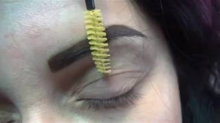 Перманентный макияж бровей,ручным методом. Микроблейдинг в технике растушевка.