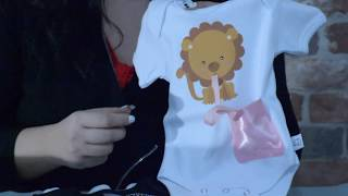 NEW Pacifier Holder clothing- Attached to baby