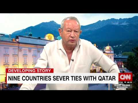 Richard Quest's interview with Sawiris on Qatar - نجيب ساويرس و قطر