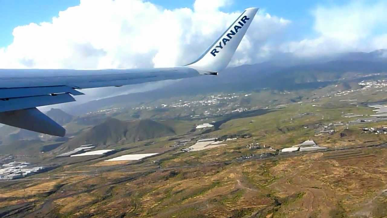 Ryanair departure Tenerife South TFS / GCTS airport - YouTube