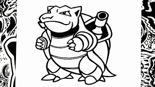 como dibujar a blastoise | how to draw blastoise