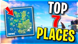 Top 7 BEST Places to Land For LOOT and EASY WINS.. Fortnite Season 3