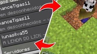 INVADI O MUNDO DA INSCRITA E ELA VIU O LICK ! Minecraft Pocket Edition 1.0