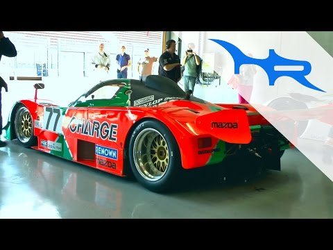 "Pure Rotary Sound Mazda 767B with BEAUTIFUL ENGINE ""BLIPS"""