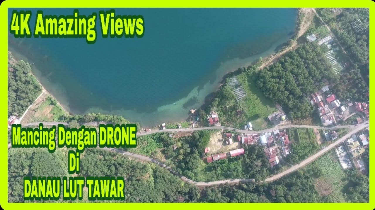 MANCING DENGAN DRONE ??? ||Fishing With 4K Drone on Lut Tawar Lake ???
