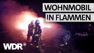 Feuer & Flamme   Wohnmobilbrand auf Autohof   WDR