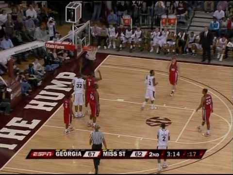 Georgia v. Mississippi St. - 2010 Jan. 16 - Last 6 Minutes