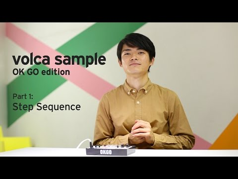 KORG volca sample OK GO edition - Basics of Sequencing