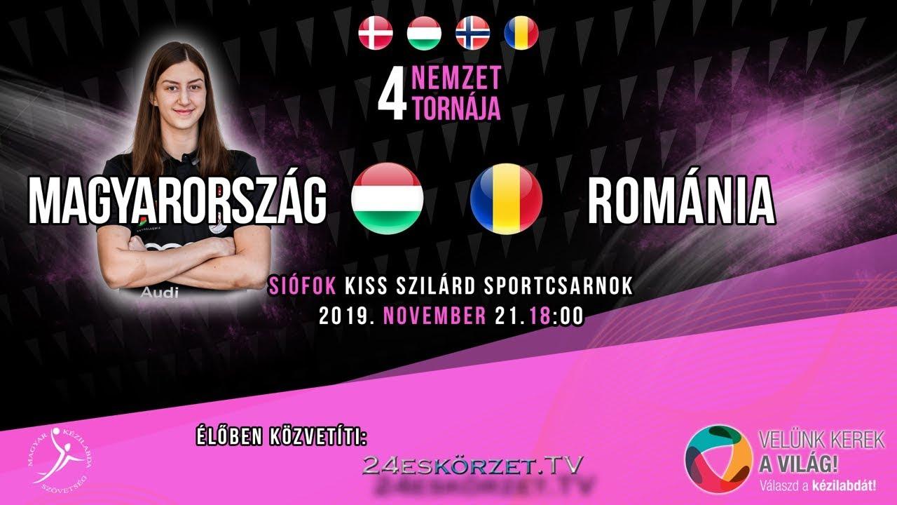 4 Nemzet Torna Siófok: Magyarország - Románia Női Junior válogatott kézilabda mérkőzés
