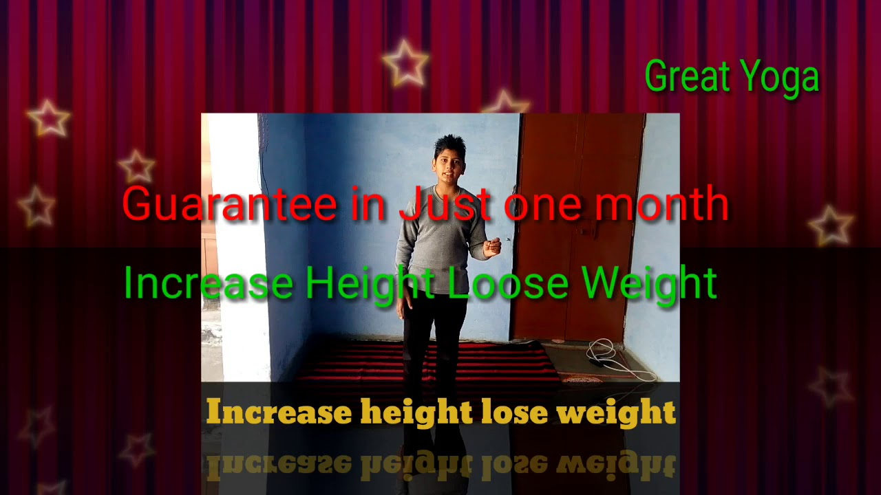 How to increase height and weight in one month