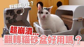 崩潰貓物開箱...翻轉貓砂盆好用嗎?【好味貓開箱】EP7