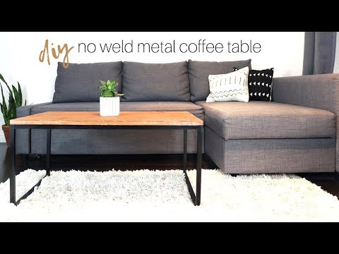 NO WELD Metal & Wood Coffee Table | How To | DIY