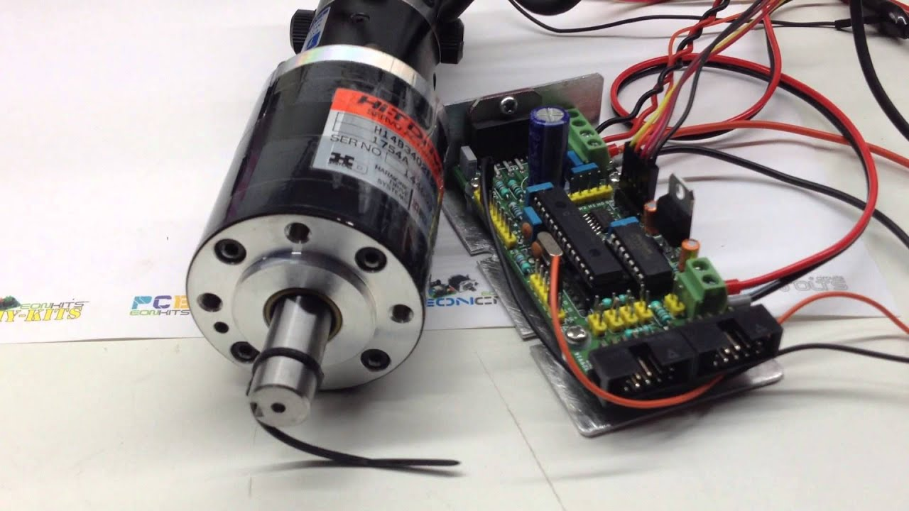 Harmonic drive brushed dc servo motor driver youtube for How to run stepper motor without driver