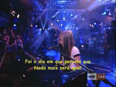Avril Lavigne - Slipped away Live (traduzido)