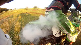 How to Kill Dirtbike - Kawasaki KX250 Blowing Up