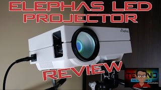 """ELEPHAS EPR-60 LED Projector Unboxing and Review   The Cheapest 130"""" LED Projector £60 €75 $85"""