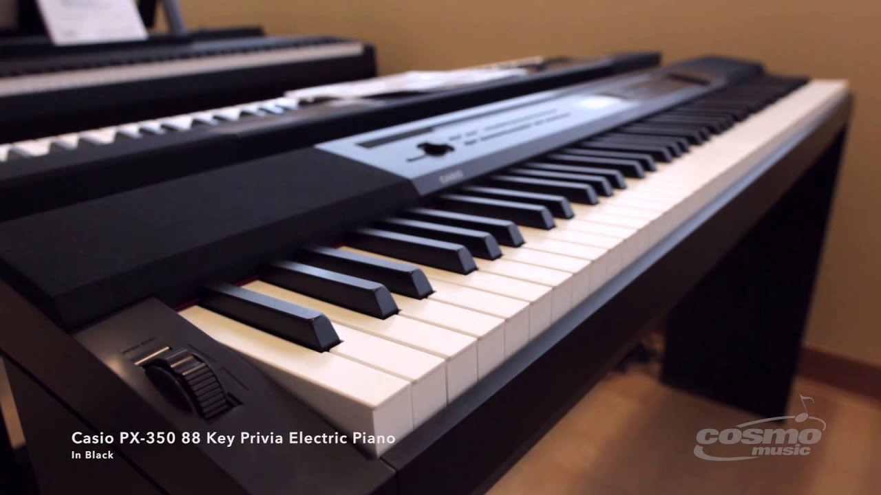 casio px 350 88 key privia electric piano youtube. Black Bedroom Furniture Sets. Home Design Ideas