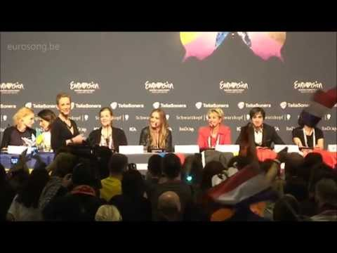 ESC2013 The Netherlands press conference - first semi final - Anouk