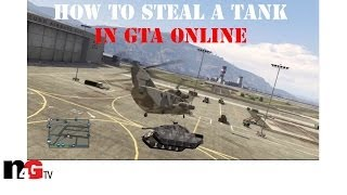 How to easily get a Rhino tank out of the military base in GTA: Online with NO wanted level