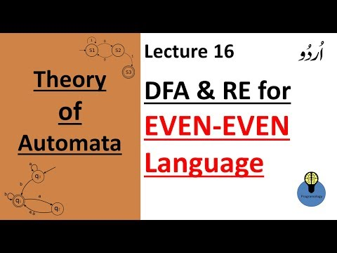 Lecture 16: Dfa And RE For EVEN EVEN Language | Even Number Of A's And Even Number Of B's