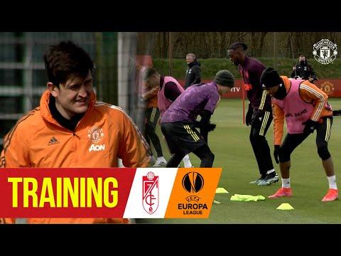 Training | Solskjaer's Reds prepare for Granada UEFA Europa League clash | Manchester United