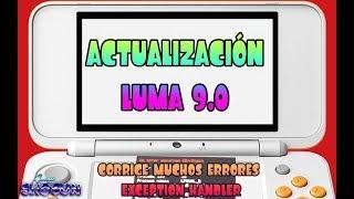 Tutorial actualización LUMA 9.0 ,Arregla muchos Exception Handler