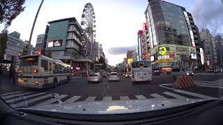 Nagoya evening drive 4K 名古屋市 ドライブ 2017