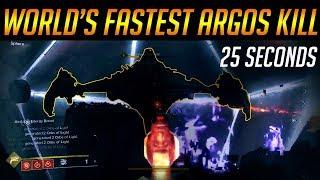 Destiny 2: WORLD'S FASTEST ARGOS KILL - 25 SECONDS