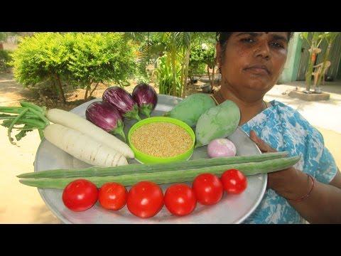 Cooking Variety Sambar Recipe in Village Style | Healthy Food | VILLAGE FOOD