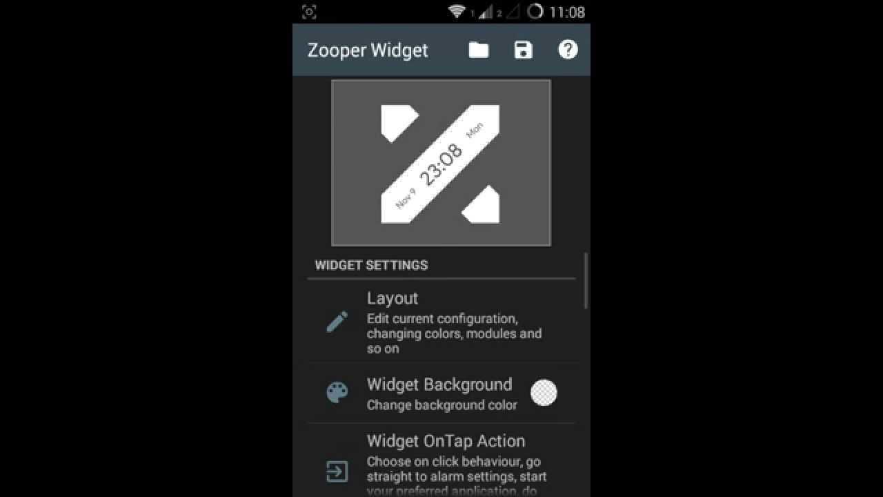 How to: Use Zooper Widget