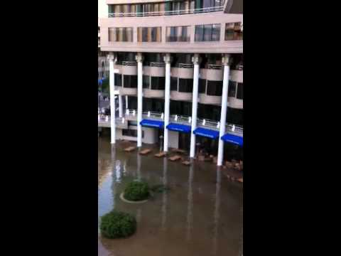 The Potomac floods Washington Harbor