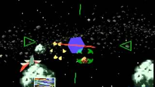 Starfox SNES Sega Remix Gameplay Asteroid Belt