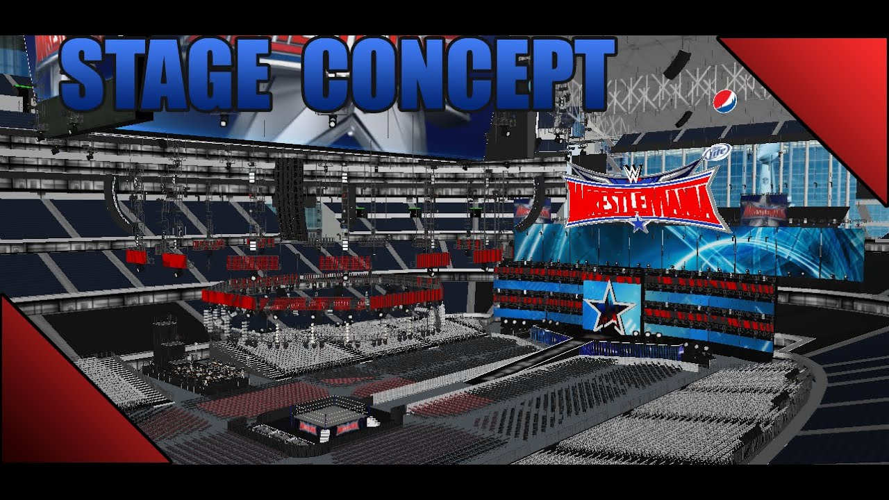 Wrestlemania 32 Stage Concept 1 Youtube