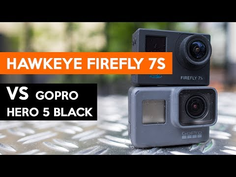Hawkeye FIREFLY 7S vs GoPro Hero 5 Black Editon | CHEAP ACTIONCAM | ENGLISH REVIEW