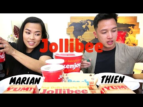 [mukbang/friendbang with THIEN & MARIAN]: JOLLIBEE (Chickenjoy, Aloha Burger, and Palabok Fiesta)