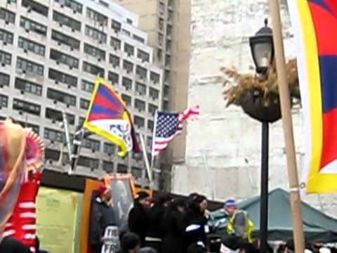 Free Tibet from China (Peaceful protest held in New York, 10 March 2011)